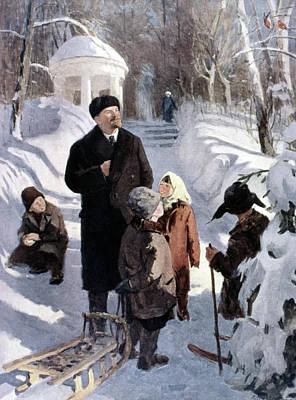 Ski Painting - Vladimir Lenin (1870-1924) by Granger