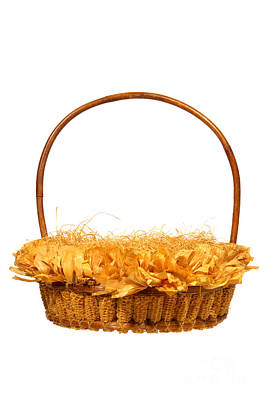 Photograph - Wicker Basket Number Three by Olivier Le Queinec