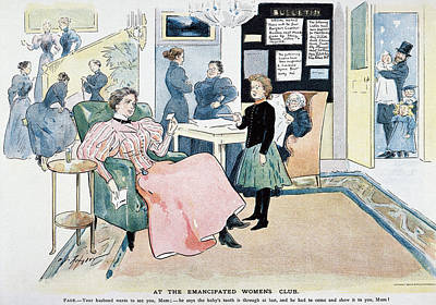 Painting - Women's Rights Cartoon by Granger