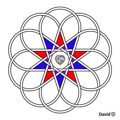 Digital Art - 10 Woven Hearts by David Diamondheart