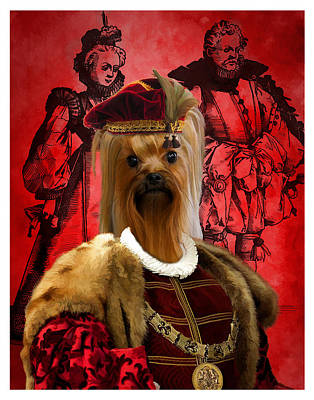 Painting - Yorkshire Terrier Art Canvas Print by Sandra Sij