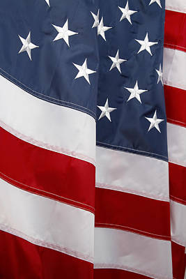 Old Masters Royalty Free Images - American flag No.257 Royalty-Free Image by Les Cunliffe