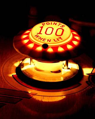 Vintage Video Game Photograph - 100 Points When Lit by Benjamin Yeager