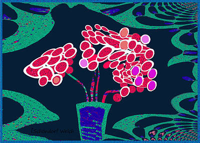 Painting - 1000 - Fractal Floral by Irmgard Schoendorf Welch
