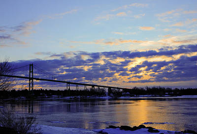 1000 Island Bridge Sunrise Art Print by David Simons