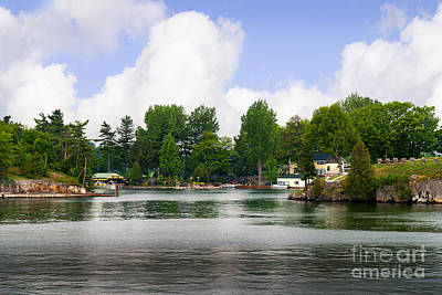 Photograph - 1000 Islands Homes by Brenda Kean