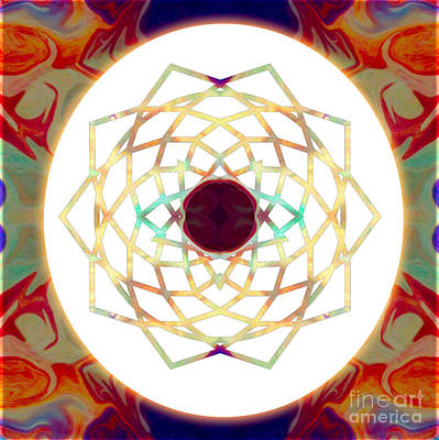 Sahasrara Digital Art - 1000 Petalled Lotus Abstract Chakra Art By Omaste Witkowski by Omaste Witkowski