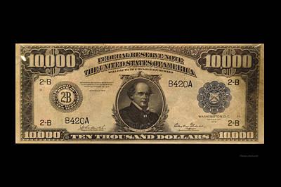 10000 Dollar Us Currency Bill Art Print by Thomas Woolworth