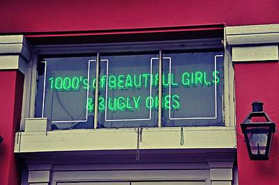Photograph - 1000's Of Beautiful Girls Sign  by Jeanne May