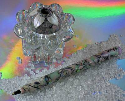 Jewelry - 1007 Desk Pen And Holder by Dianne Brooks