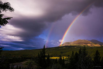 Photograph - 100801a-10 Double Rainbow At Sunrise by Albert Seger