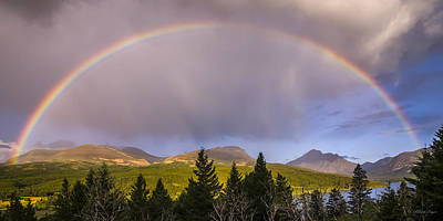 Photograph - 100801a-14 Two Medicine Rainbow by Albert Seger