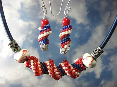 Jewelry - 1012 Hooray For The Red White And Blue by Dianne Brooks
