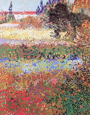 Photograph - Flowering Garden by Vincent Van Gogh