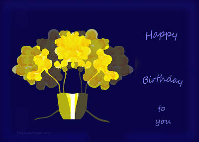 Painting - 1022 - Happy Birthday by Irmgard Schoendorf Welch
