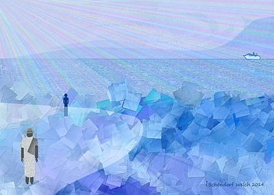 Painting - 1023 - Icy Ocean by Irmgard Schoendorf Welch