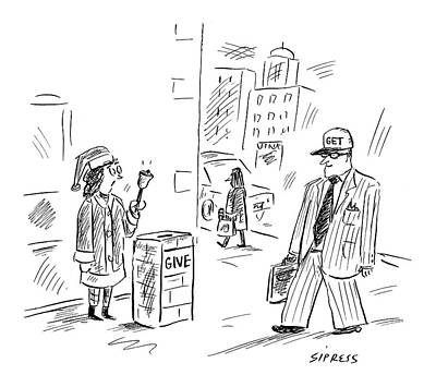David Drawing - New Yorker December 12th, 2005 by David Sipress