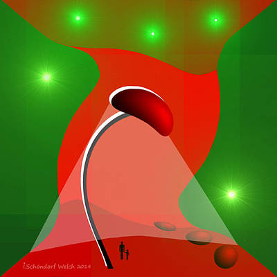 Painting - 1032 - Strange Night Light by Irmgard Schoendorf Welch