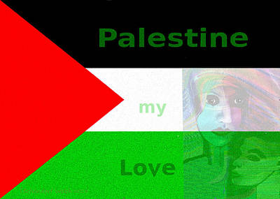 Painting - 1034 - Palestine My Love ... ... by Irmgard Schoendorf Welch