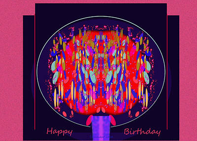 Painting - 1037- The Birthday Card by Irmgard Schoendorf Welch