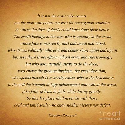 104- Theodore Roosevelt Art Print