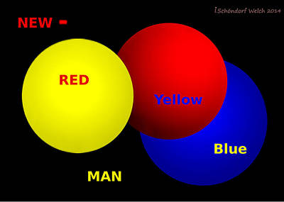 Painting - 1042 - Newman Red Yellow Blue by Irmgard Schoendorf Welch