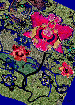 Painting - 1046 - Flowers Rustical by Irmgard Schoendorf Welch