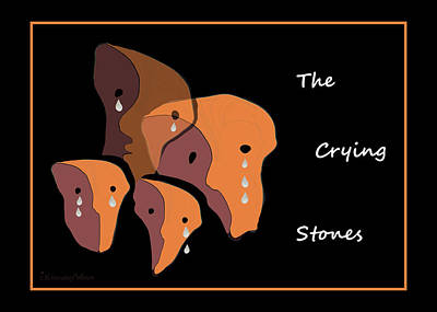 Painting - 1050 - The Crying Stones ... by Irmgard Schoendorf Welch