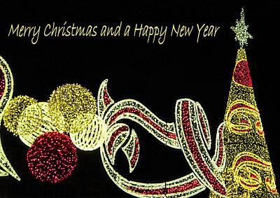 106 - Malaga Christmas Lights   Art Print by Patrick King
