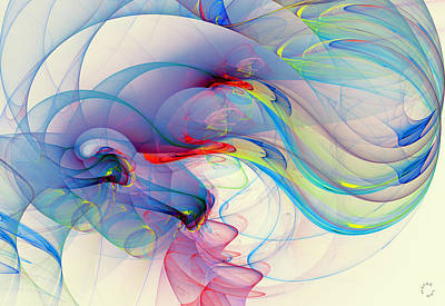 Generative Digital Art - 1060 by Lar Matre