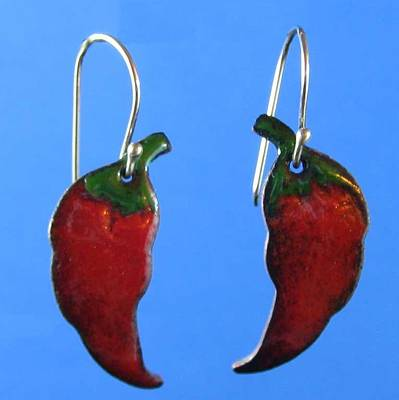 Jewelry - 1066 Hot Chili Peppers by Dianne Brooks