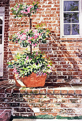 Brick Painting - 1067 Azalea Way by David Lloyd Glover
