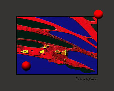 Painting - 1069 - Red Stuff by Irmgard Schoendorf Welch