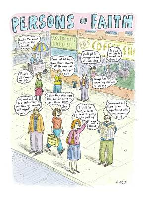 Thought Drawing - Persons Of Faith by Roz Chast