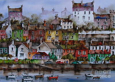 107 Windows Of Kinsale Co Cork Art Print