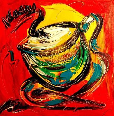 Coffee Art Print by Mark Kazav