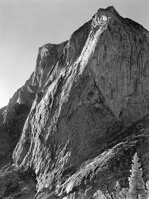 Photograph - 109643-bw-north Face Mitchell Peak, Wind Rivers by Ed  Cooper Photography