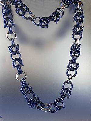 Jewelry - 1099 Blue Byzantine by Dianne Brooks