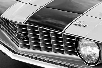 1969 Photograph - 1969 Chevrolet Camaro Z 28 Grille Emblem by Jill Reger