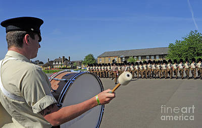1st Battalion Welsh Guards On The Drill Art Print
