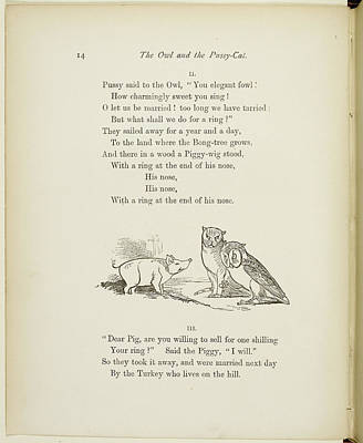 Of Felines Photograph - A Book Of Nonsense By Lear by British Library