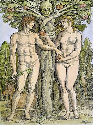 Adam And Eve Art Print by Granger