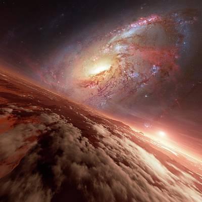 Alien Planetary System Art Print