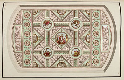 Pattern Books Photograph - Antique Grotesque Ceilings by British Library