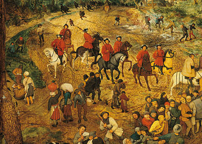 Protest Painting - Ascent To Calvary, By Pieter Bruegel by Pieter the Elder Bruegel