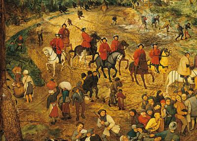 Ascent To Calvary, By Pieter Bruegel Art Print by Pieter the Elder Bruegel