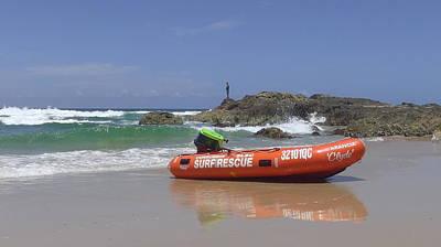Australia - Currumbin Surf Rescue Inflatable Original by Jeffrey Shaw