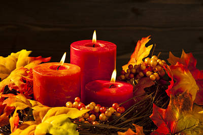 Firefighter Patents Royalty Free Images - Autumn candles Royalty-Free Image by U Schade