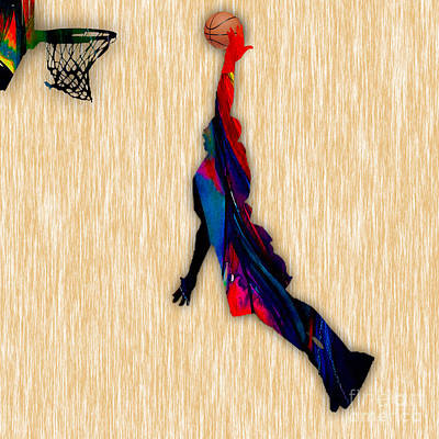Basketball Art Print by Marvin Blaine