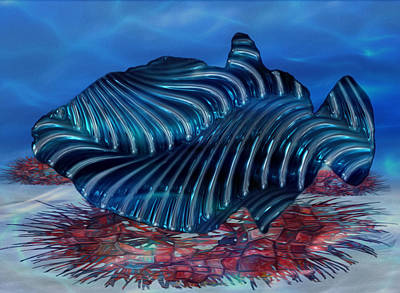 Reference Digital Art - Beneath The Waves Series by Jack Zulli